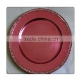 Decorative Plastic Crystal Charger Plates