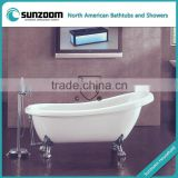 cUPC golden color claw foot tub,beautiful classic bathtub,bathing tubs