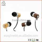 3.5 mm Plug In-ear Earphone with a bamboo or walnut body