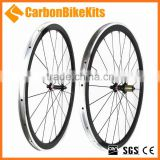 CW38C-A Alloy Braking Surface 700C Bicycle Carbon Wheelset 38mm road bike wheels clincher alloy