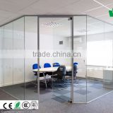 Frameless glass office partition living room partiton Laminated safety glass types of partition walls