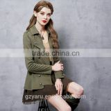 Latest fashionable ladies vintage lapel cool girls slim fit ball gown short coat jackets for women spring autumn clothing