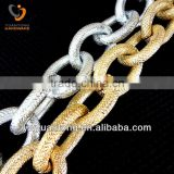 Wholesale fashion cut face 6mm aluminum belt chains