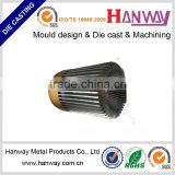 Guangdong oem manufcture aluminum die casting heat sink, LED lighting accessories, die casting led enclosure heat sink