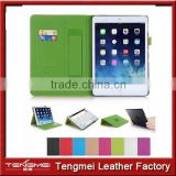Strap holder&card slot leather case for apple ipad mini 3,for apple ipad mini 3 case
