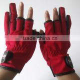 fisherman gloves outdoor neoprene fishing gloves with 3 fingers open