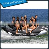 Exciting inflatable shark boat/inflatable rafting boat/inflatable banana boat for water game