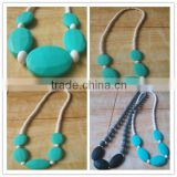 Teething Necklace Chic BPA Free chewing silicone bead,chewing silicone bead necklace,baby chewing silicone bead necklace