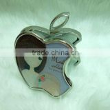 Hot selling apple shape compact mirror/custom apple shape cosmetic mirror