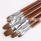 6pcs High Grade Artists Classic All Media Watercolour Brush set Filbert Head Long Handle Brush Paint