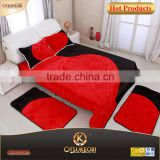 2016 Queen size korean mink blankets and Algeria 5 PC bedding sets with contracted design .