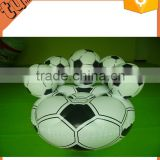 best selling custom inflatable air cushion sofa , inflatable soccer ball chair for advertising