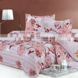 100% polyester microfiber pigment printing bedding set/bed cover hometextile fabric of flower design