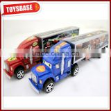 Promotional toy truck plastic friction truck toy custom toy semi trucks