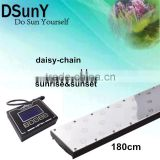 CE/RoHs/FC certification 72 inch/6ft thunder storm /sunrise sunset /color changing led aquarium light for fresh water tank ,