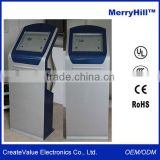 Self Service Terminal 15 inch 17 inch 19 inch Touch Screen Info Kiosk With Keyboard and Printer