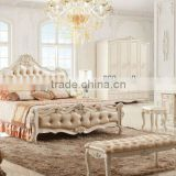 Italian bedroom furniture sets bed with nightstand DXY-KB69