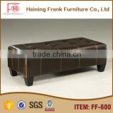 New product square leather Customized furniture pouf ottoman bed for home furniture sale