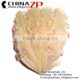 CHINAZP Factory Popular Colored Pale Yellow with Light Pink Curled Goose Feathers Pad Plume for Hair Accessories