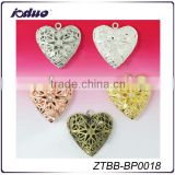 Costume Jewelry Of 26mm Antique Hollow Heart Photo Lockets