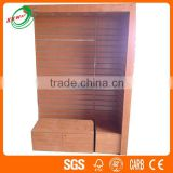 Wood Grain Store Clothing Display Retail Fixture