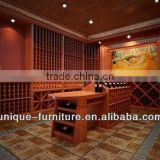 2014 wood wine cooler cabinet/ wine cabinet/ wine glass display cabinet