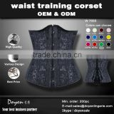multiple color brocade fabric your own brand underwear steel boning underbust corset waist training