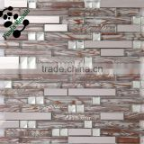 SMJ02 Strip wall panel marble mosaic tile for the modern kitchen wall decoration