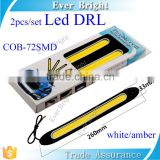 72 smd COB 12v led car light auto flexible led drl/ daytime running light white / amber light