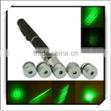HOT! 5 in 1 5mw Green Laser Pointer Pen (Five Heads)