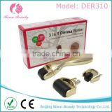 Stretch Mark Removal0.2mm Changeable Heads Professional Derma Roller/microneedling 0.75mm Dermaroller 3 In 1 Functions Titanium Needles Rolling System Derma Roller Kit For Acne Scars