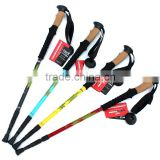 carbon fiber trekking poles three section Rubber Foot Stick Tip Walking hiking mountaineering cane