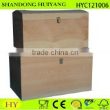 Balsa wood box crate wood storage box treasure chest tool box for wood burning and woodcarving unfinished