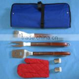 6pcs Stainless Steel BBQ Tools Set With Apron/ Bag Barbecue Set Grill Set