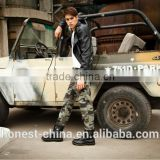 2016 fashion design young man regular canvas silcon wash best selling top sale high quality camo cargo pants