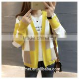 Wholesale life women ladies spring jacket stand up collar sweatshirt without hood CVC(80/20)