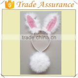 White Feather Bunny Headband For Kids' Party Decoration easter bunny headband kids animal ear headband