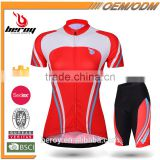 BEROY top quality race cycling skin suit,female short sleeve mountain bike garment with cycling pad