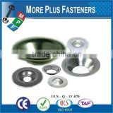 Made in Taiwan Steel Countersunk Stainless Steel Brass Steel Countersunk Finishing Washer