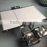 Folding barbecue grill/mobile kitchen