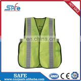 CE safety silver reflective fabric glass bead vest
