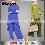 2017 Model Kebaya Islamic Clothes Modern Plus SIze Ladies Jumpsuits For Muslim Women Long Sleeves Top & Pants Muslim Jumpsuits