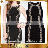 Customized bandage beaded dress cocktail party dress african party dress