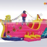 AOQI with free EN14960 certificate giant inflatable pirate slides