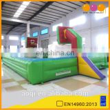 Most popular kids gym equipments inflatable sport game basketball court for sale