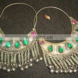 Newly Made Afghan Kuchi Earrings with bells and colorful beads