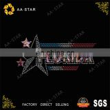 FLORIDA eastern star rhinestone transfer for boys' clothing