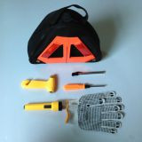 6pcs auto safety kit with teepee warning triangle