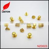 Factory supply gold brass screw button studs for leather