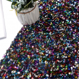 5mm Sequin Fabric Rainbow colour